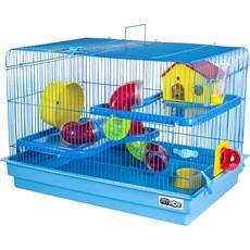 Gaiola Hamster 2 Andares Big Space Azul Jel Plast