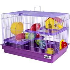 Gaiola Hamster 2 Andares Big Space Lilás Jel Plast