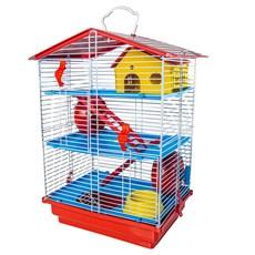 Gaiola Para Hamster 3 Andares Teto Plástico Jel Plast