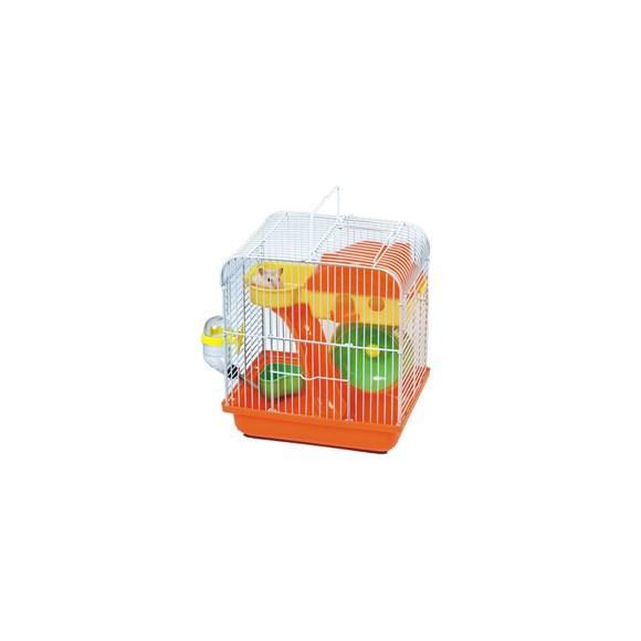 Gaiola para Hamster Playground Luxo Mix Colors LARANJA - The Pets Brasil