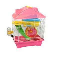 Gaiola para Hamster Playground Luxo Mix Colors ROSA - The Pets Brasil
