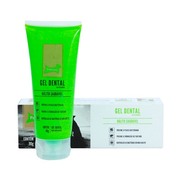 Gel Dental Hálito Saudável PetMais - 90g