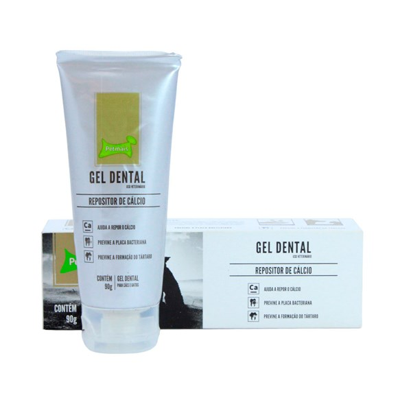 Gel Dental Repositor De Cálcio PetMais - 90g