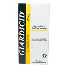 Giardicid 50mg C/ 10 Comprimidos