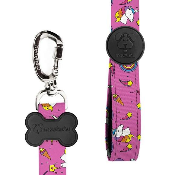 Guia MeuAuAu Unicórnio Rosa para Cães – 20mm