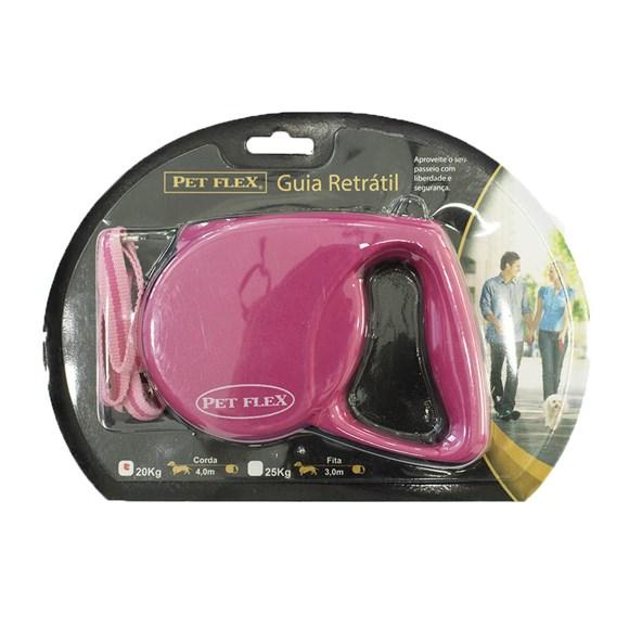 Guia Premium Rosa Petflex Soft Cães Até 20Kg