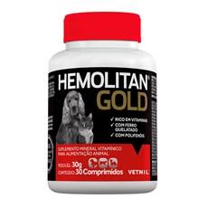 Hemolitan Gold Suplemento Vetnil C/30 Comprimidos
