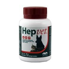 Hepvet Suplemento Para Cães E Gatos 30 Comprimidos