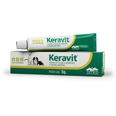 Keravit Pomada Oftalmica Antibiotica Para Animais 5g