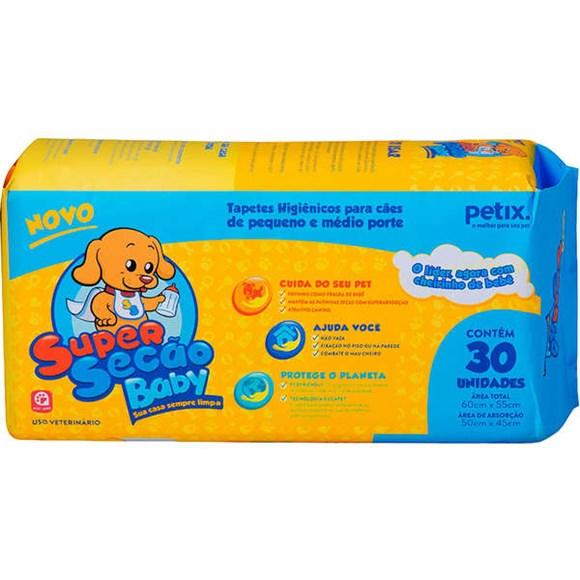 Kit 4 Tapetes Higiênicos Cães Super Secão Baby C/30 Unidades
