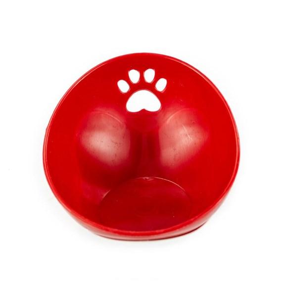 Kit Bandeja Comedouro E Bebedouro Design Inclinado Vermelho Truqys Pets - 2 Litros