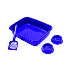 Kit Gato Azul 3X1 Higiênico Tudo Pet