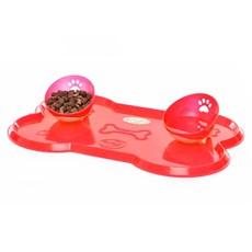 Kit Jogo Americano Osso Grande Vermelho- Truqys Pet