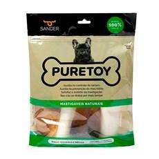 Kit Mastigáveis Cães Puretoy Raça Peq/Med, 2 Ossos + 2 Cascos + 1 Chifre