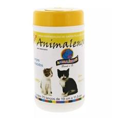 Lenços Umedecidos Gatos Animalenço C/75 Unidades