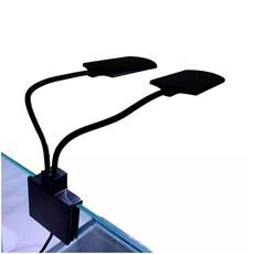 Luminária de LED Soma Preta X7 15W Branco e Azul - 220V