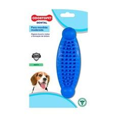Massageador Mordedor para Cães até 15kg Moderada DentalBone Azul Carne