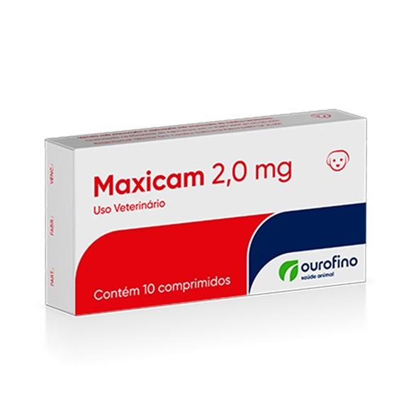 Maxicam Anti-inflamatorio 2,0mg Ourofino C/10 Comprimidos
