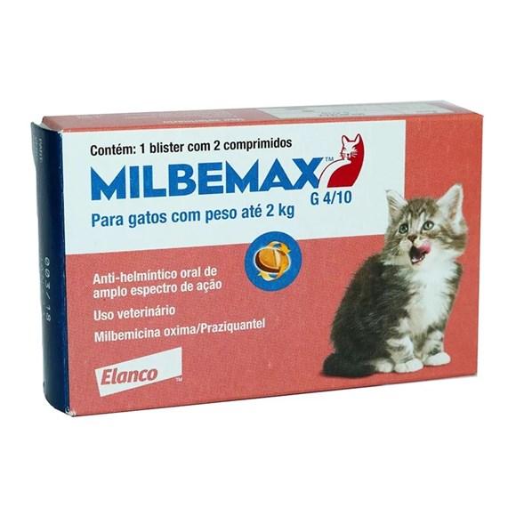 Milbemax Vermifugo para Gatos Ate 2kg C/ 2 Comprimidos