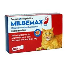 Milbemax Vermífugo para Gatos de 2kg a 8kg C/ 2 Comprimidos