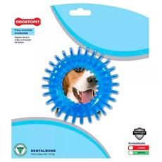 Mordedor Cães até 15kg Fresbee Dentalbone Argola Espacial Azul Carne
