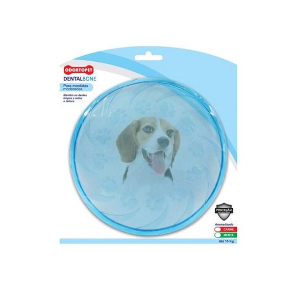 Mordedor P/ Cachorros Até 15kg Dentalbone Fresbee Azul Carne