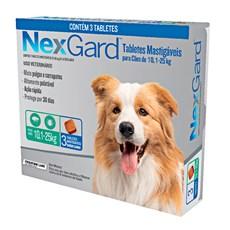 Nexgard Antipulgas E Carrapatos Cães 10,1 A 25kg c/3 Comprimidos.