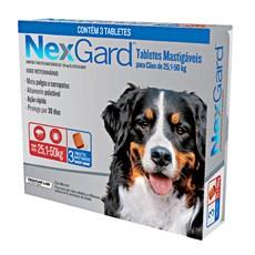 Nexgard  Antipulgas E Carrapatos Cães 25,1 A 50kg c/3 Comprimidos.