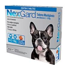 Nexgard Antipulgas E Carrapatos Cães 4,1 A 10kg c/3 Comprimidos.