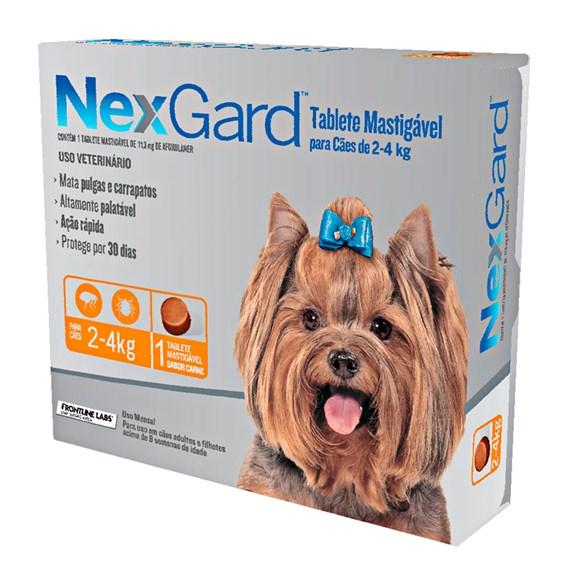 Nexgard Antipulgas E Carrapatos Cães De 2 A 4kg