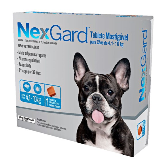 Nexgard Antipulgas E Carrapatos Cães De 4,1 A 10kg