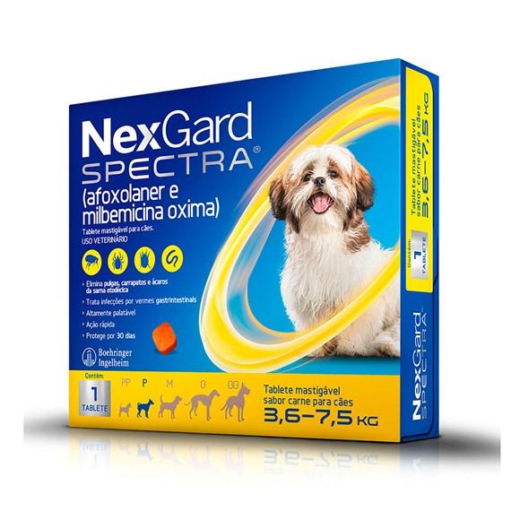 NexGard Spectra Antipulgas e Carrapatos Para Cães de 3,6 a 7,5kg