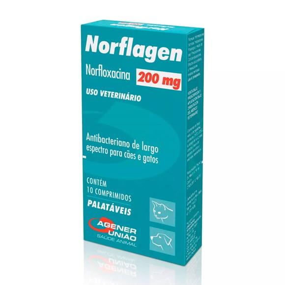 Norflagen 200mg Antibacteriano Agener União C/10 Comprimidos