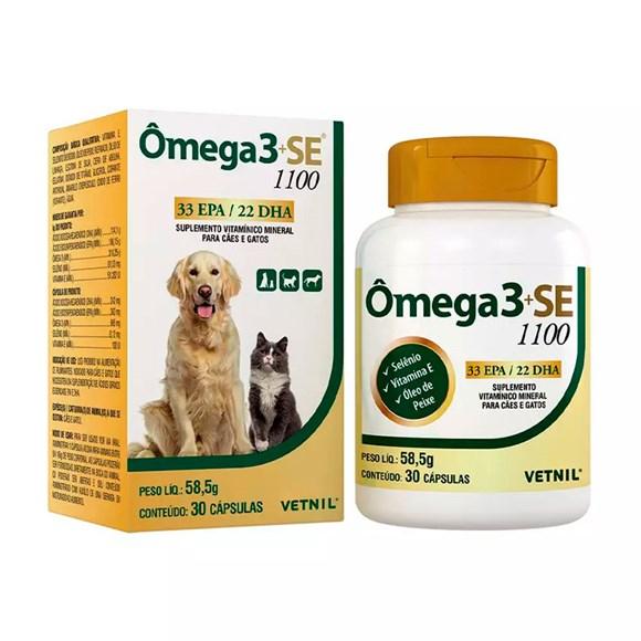 Omega 3+SE 1100 Suplemento Vitaminico Caes e Gatos Vetnil