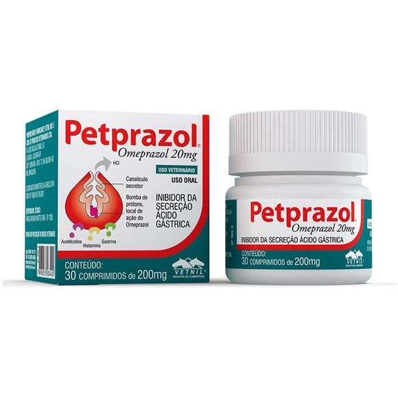 Omeprazol para Caes e Gatos Petprazol Vetnil - 200mg  - 30 comprimidos