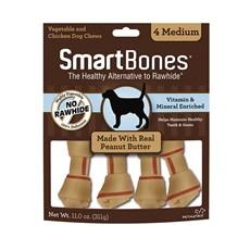 Ossinhos Para Cães Smartbones Peanut Butter Medium - 4 Unidades