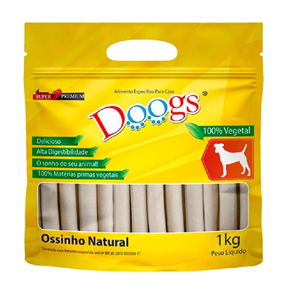 Osso Cães Doogs Palito Natural 15mm - 1kg