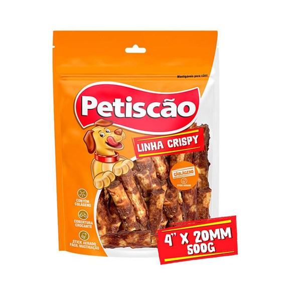 """Osso Cães Petiscão Cãolágeno Crispy 4"""" 3 Unidades"""