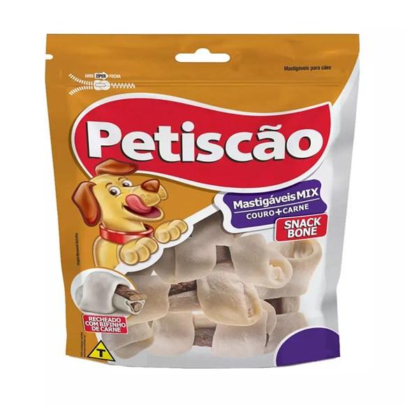 Osso Cães Petiscão Snack Bone Nó 3/4 Com 2 Unidades