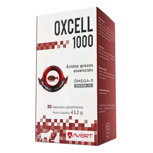 Oxcell Suplemento Caes E Gatos 30 Capsulas 1000mg - Avert