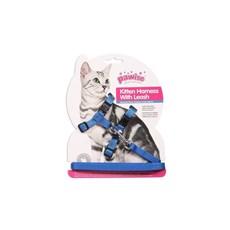 Peitoral E Guia Para Gatos Azul Tamanho Único Pawise