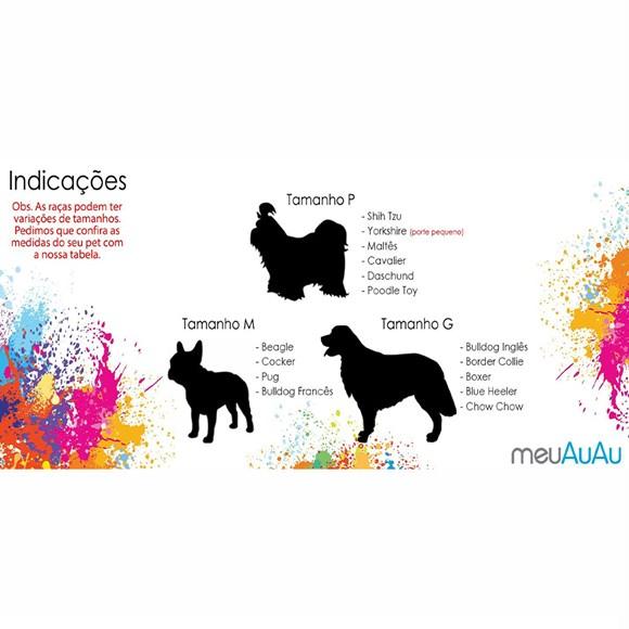 Peitoral e Guia Turma da Mônica Pets Branco MeuAuAu Para Cães – Tam M