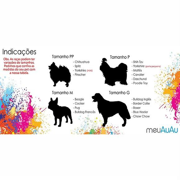 Peitoral MeuAuAu Turma da Mônica Bidu Azul Para Cães – Tam: G