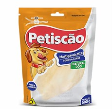 Petisco Cães Petiscão Orelha Bovina Branca C/ 5 Unidades