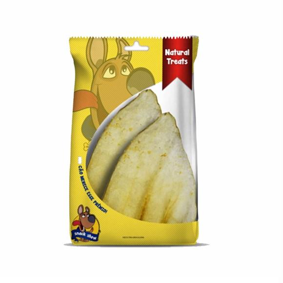 Petisco Cães Snack Show Orelha de Boi Embalagem C/02 Unidades