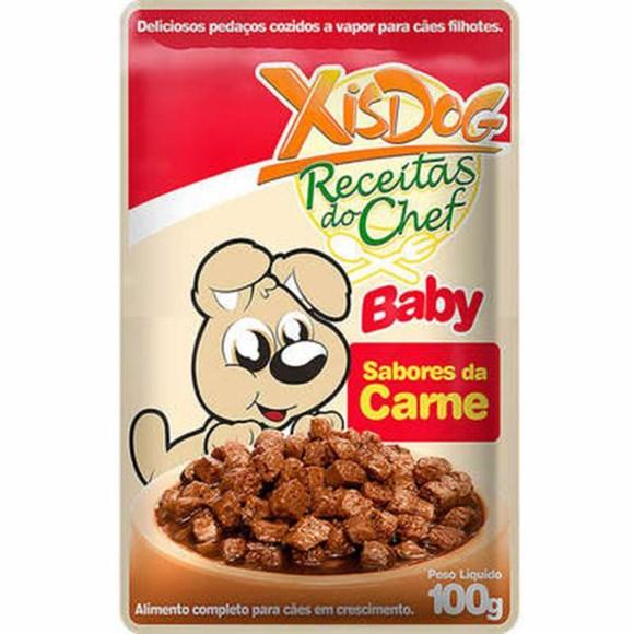 Petisco Cães XisDog Baby Sabores da Carne - 100g