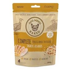 Petisco Snack Para Cães Assado Complete Peru E Arroz 250g Lu