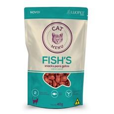 Petisco Snack Para Gatos Cat Menu Fishs 40g Luopet