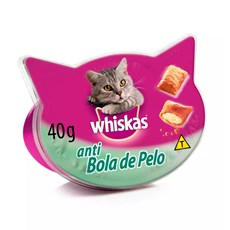Petisco Whiskas Temptations Anti Bola de Pelos Gatos Adultos - 40g