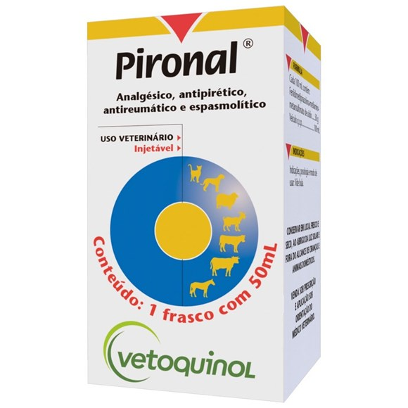Pironal Dipirona Sodica Injetável P Animais Vetoquinol 50ml